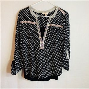 Skies are blue /Anthropologie top